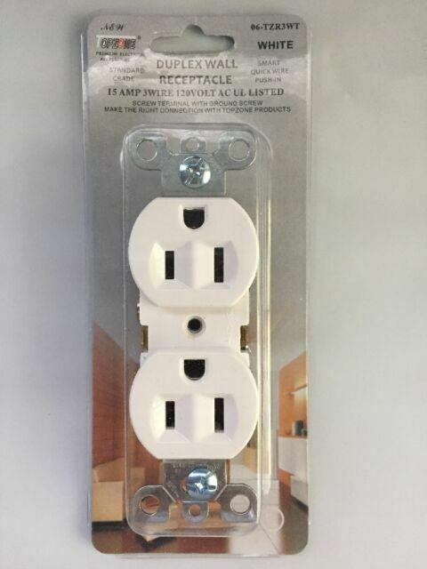 two duplex outlets wiring two duplex wall plug outlet receptacle white ul listed 15amp 3  two duplex wall plug outlet receptacle