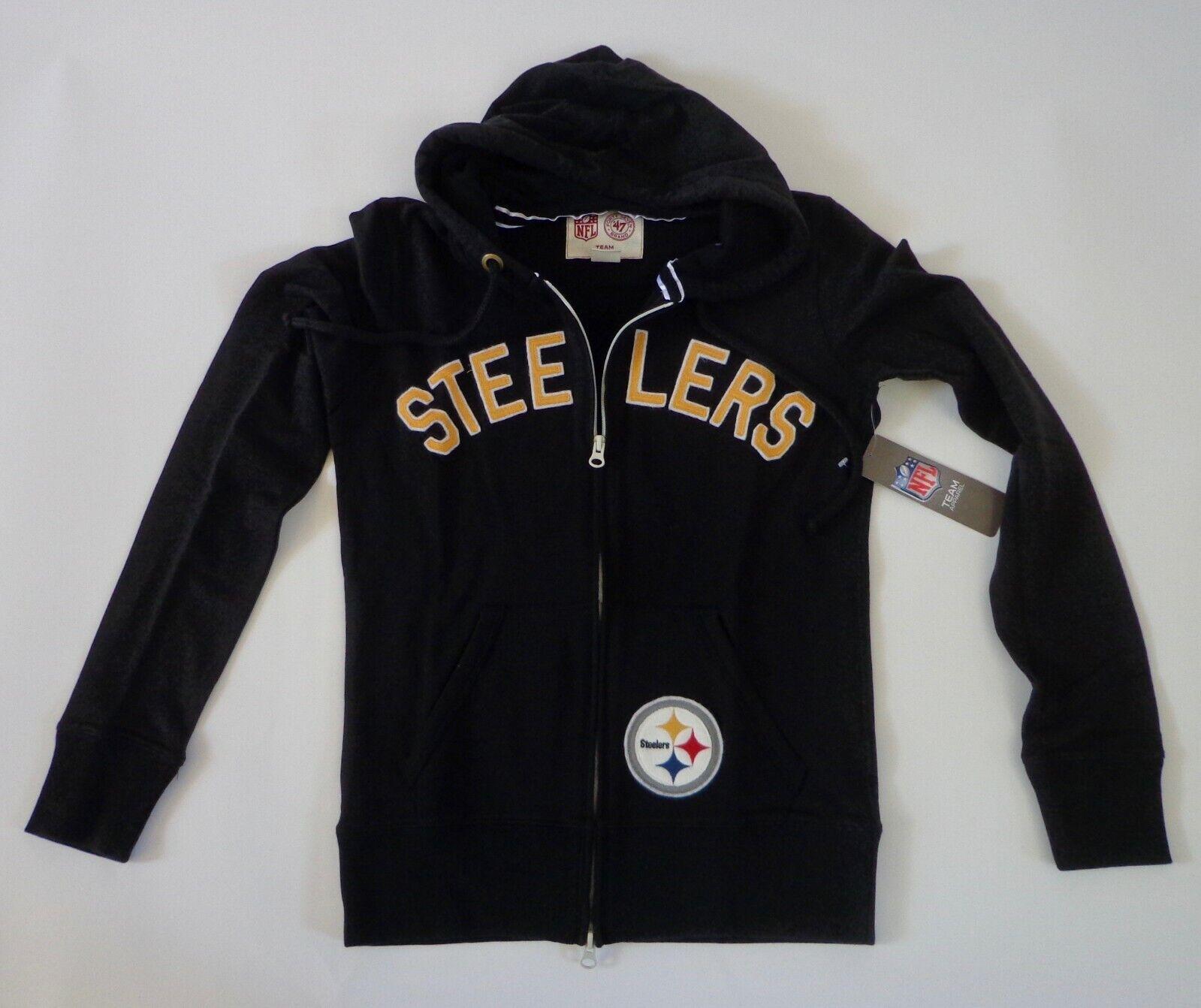 2f7275e0 Steelers Pittsburgh Small Women's Zip Full Hoodie Brand '47 ...
