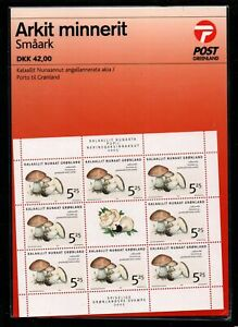 Greenland-Sc-446a-447a-2005-Mushrooms-stamp-miniature-sheets-mint-NH