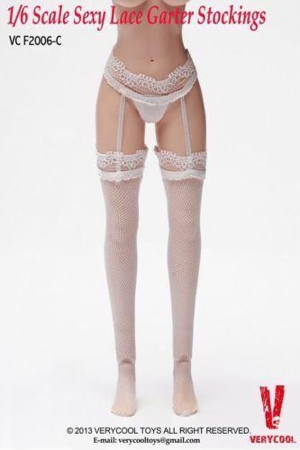 1//6 VERYCOOL Female Lace Garter Stockings Long Mesh Socks Fit TBL 12/'/' Figure