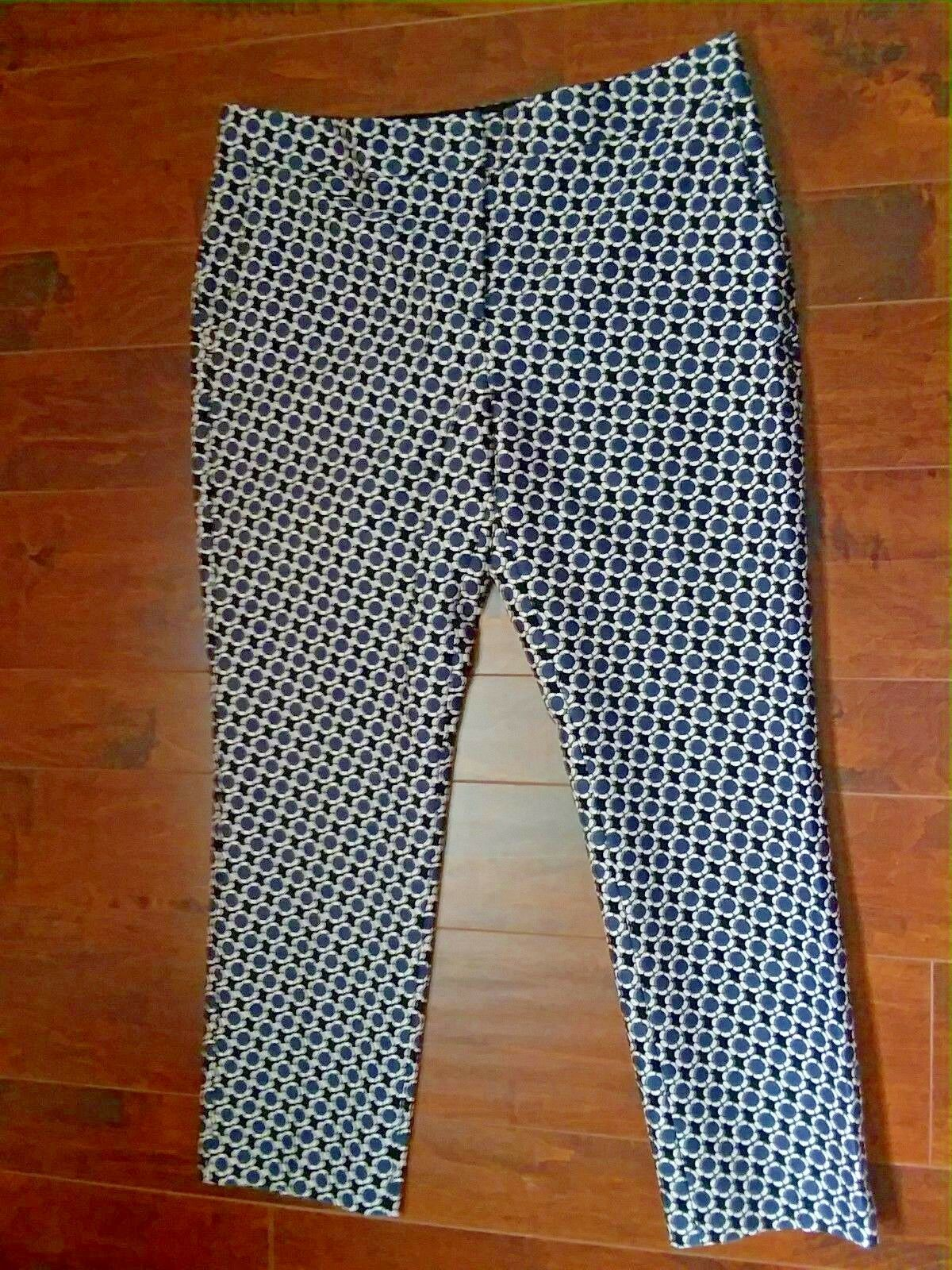 Ann Taylor Devin Straightest Fit Dress Pants Abstract Flor Women Size 10 NWT HP