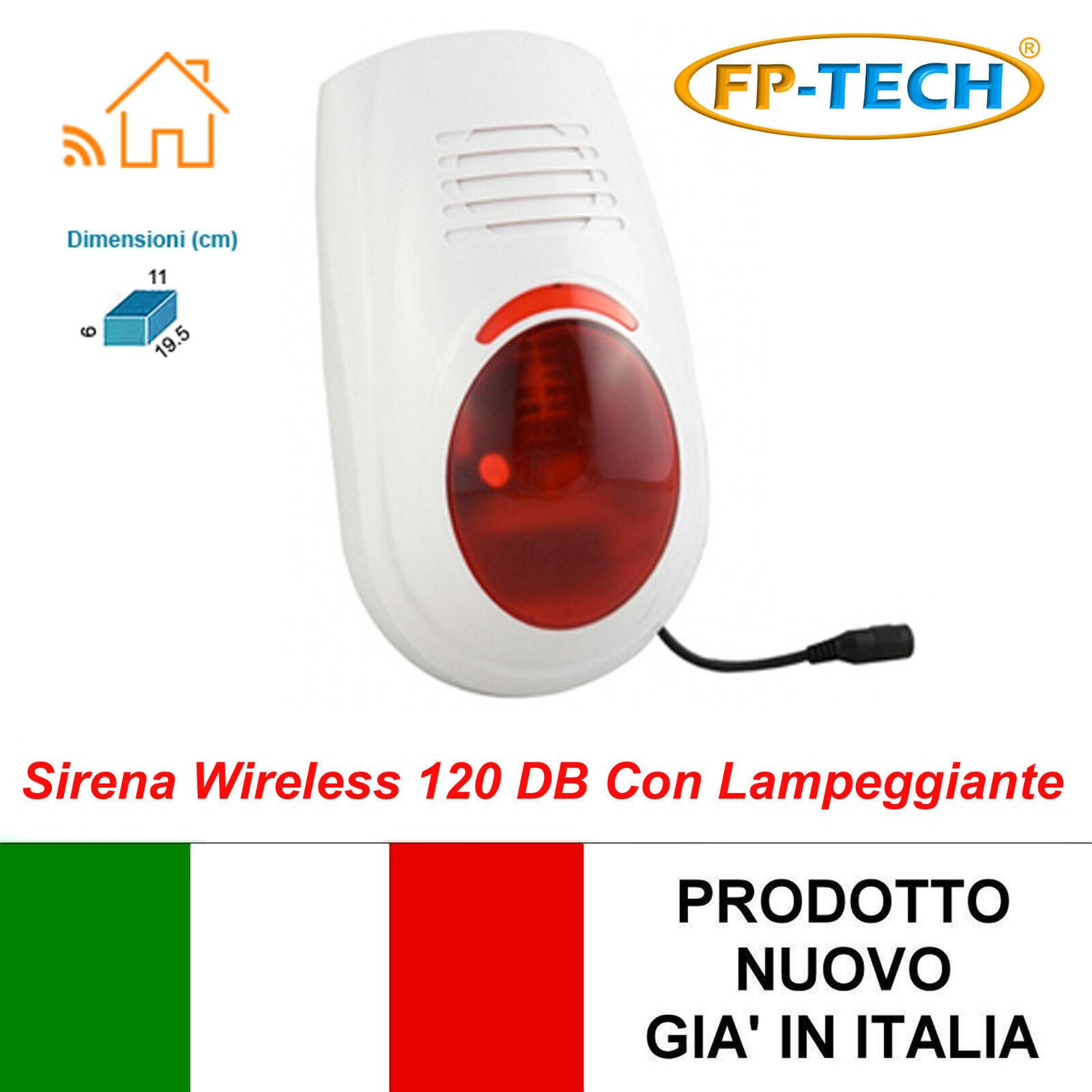 Sirena Inalámbrico Al Aire Libre Antirrobo Casa Intermitente Sos Universal Wifi