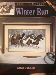 Dimensions-Winter-Run-Horses-in-the-Snow-Cross-Stitch-Pattern-5-Horse-Running-OP