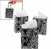 120 Wholesale Lot Black White Damask Scroll Gift Bags Wedding Party Ships Free