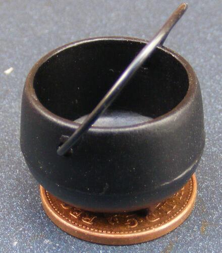 1:12 Échelle Noir Médiévale Métal Chaudron Tumdee Poupées Maison Tudor Sorcière