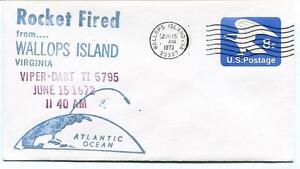 1972 Wallops Island Rocket Fired Viper Dart T15795 Wff Goddard Base Nasa
