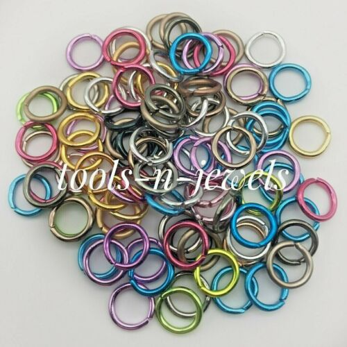 5.5mm Aluminum Jumprings Jewelry Open Rings 18 Gauge Mix 100 Pieces Mixed Colors