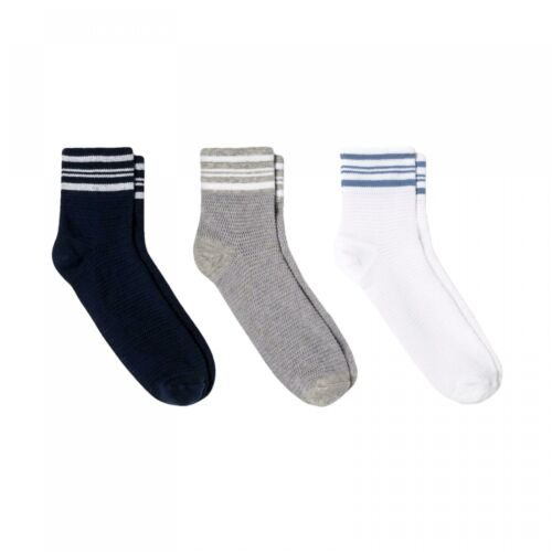 PID-NP5G NWT Universal Thread Women/'s 3pk Striped Ankle Mesh Socks