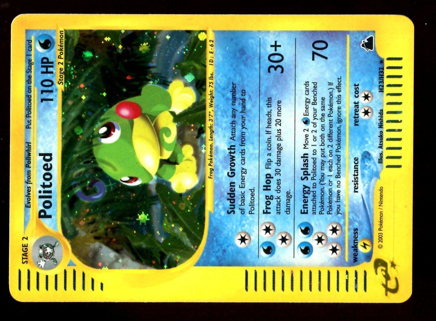 POKEMON SKYRIDGE HOLO (ENGLISH CARD) CARD) CARD) CARTE N° H23 H32 POLITOED 110 HP 34e1d9