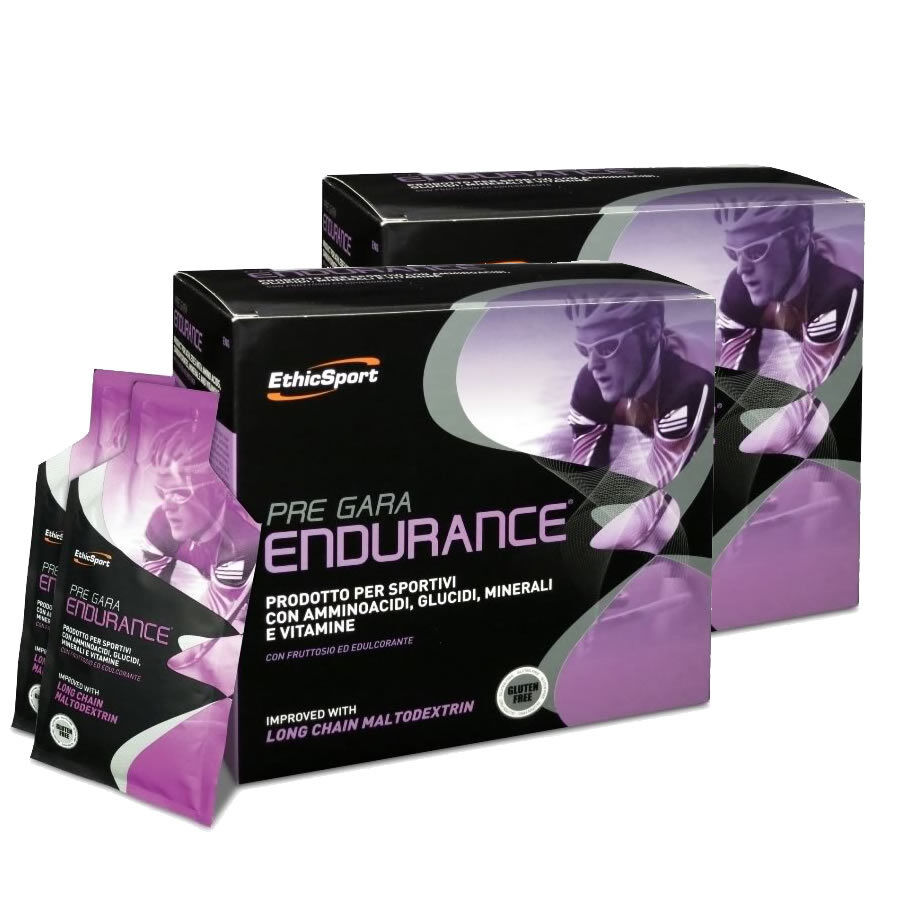Ethicsport n.2 Pre Race Endurance 40 sachets resistance and efforts Ethic sport