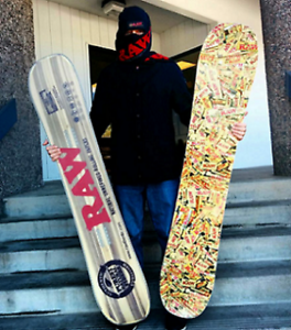 SNOWBOARD RAW Rolling Papers Design 5 Foot 7 Ply Limited Edition Made USA