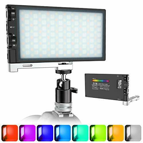 Upgraded G1s RGB Video Light, Rechargeable Built-in Battery Led Camera Light,