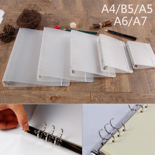 A4//B5//A5//A6//A7 Loose-Leaf Notebook Case Ring Binder Notebook Shell File Folder