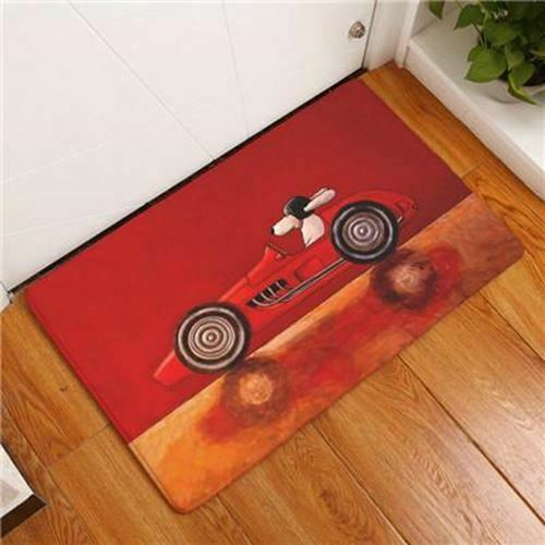 Cartoon Style Dog Print Carpets Anti-slip Floor Mat Outdoor Rugs Animal Front Do
