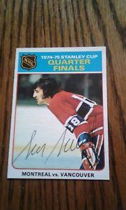 NHL-Montreal-Canadiens-Auto-039-d-Serge-Savard-1975-76-OPC-Nice-Card-Nice-Sig
