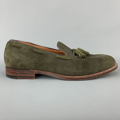 ALDEN x UNIONMADE Size 11.5 Olive Solid Tassels Lo