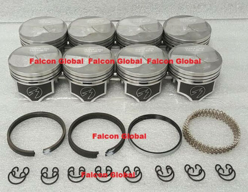 Chevy 7.4//454 Speed Pro Hypereutectic 22cc Dome Pistons+MOLY Rings Set//Kit .030