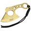 7-034-Golded-Coated-Full-Tang-SHARP-Hunting-Axe-Throwing-Knife-amp-Case thumbnail 1