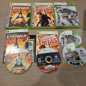 Lot-of-3-Xbox-360-Tom-Clancy-Games-Splinter-Cell-Blacklist-Endwar-Rainbow-Vegas