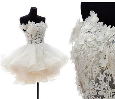 Off Shoulder Ball Gown Wedding Dresses 2020 Short Sexy Puffy Tulle Bridal Gowns Ebay