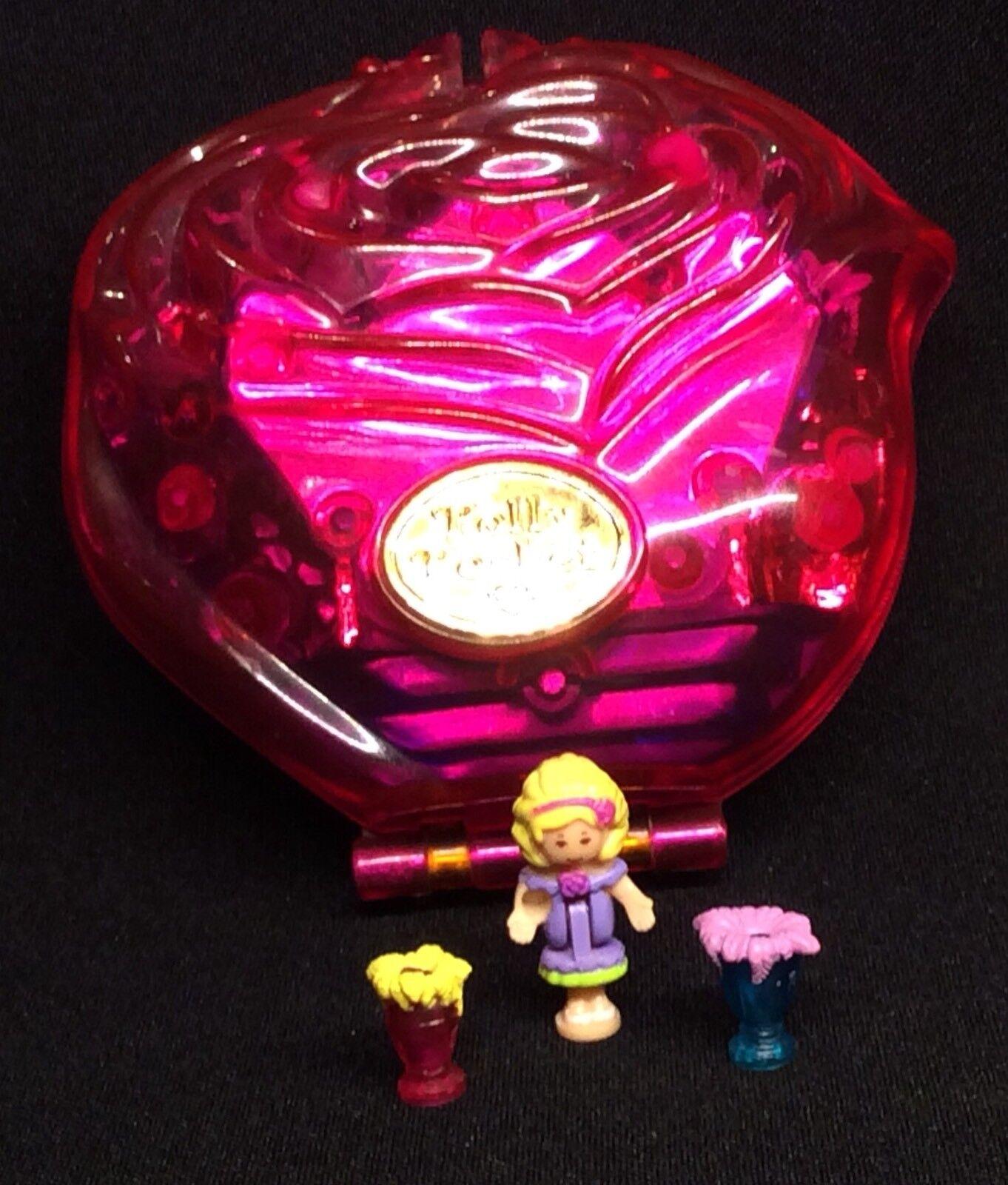 Polly Pocket Mini   1996 - Sweet Rosas - Sparkle Surprise - Rosa Flacon 1.1