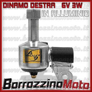DINAMO DESTRA IN ALLUMINIO PER BICI BICICLETTA MTB PASSEGGIO CITY 6V 3W