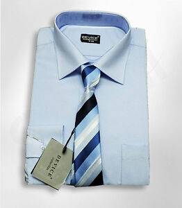 MEN-039-S-BOYS-BLUE-FORMAL-SHIRT-AND-TIE-SET-PAGE-BOY-WEDDING-PROM-SMART-SUIT-SHIRTS