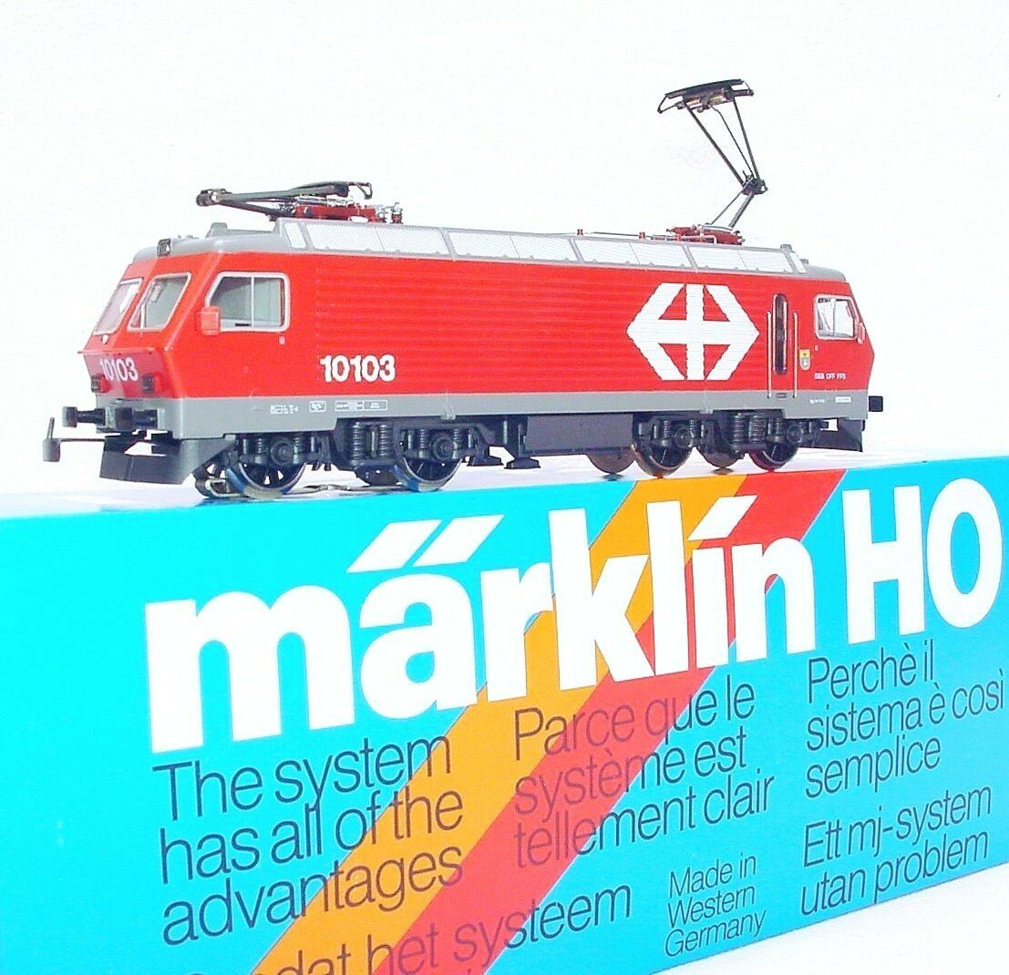 Marklin AC HO 1 87 Swiss SBB Re 4 4 ELECTRIC LOCOMOTIVE MIB`80 New  RARE