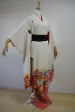 Kimono Dress Japan Furisode gown Hanayome  costume Vintage Japanese KDJM-F0030