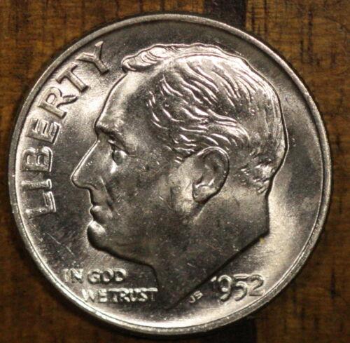 1952 D CH BU Roosevelt  Dime FREE SHIPPING