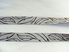 Gurtband Gurt Taschenhenkel Henkel Federn grau schwarz 30 mm