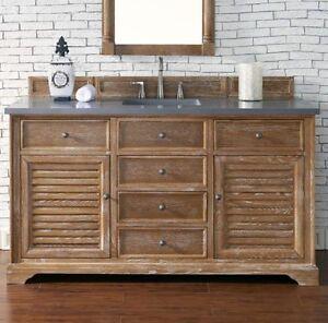 "60"" james martin savannah driftwood single bathroom vanity"