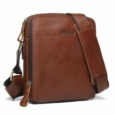 7a60928e4f Genuine Leather Men s Messenger Bag Vintage Shoulder Bags High Quality  Crossbody