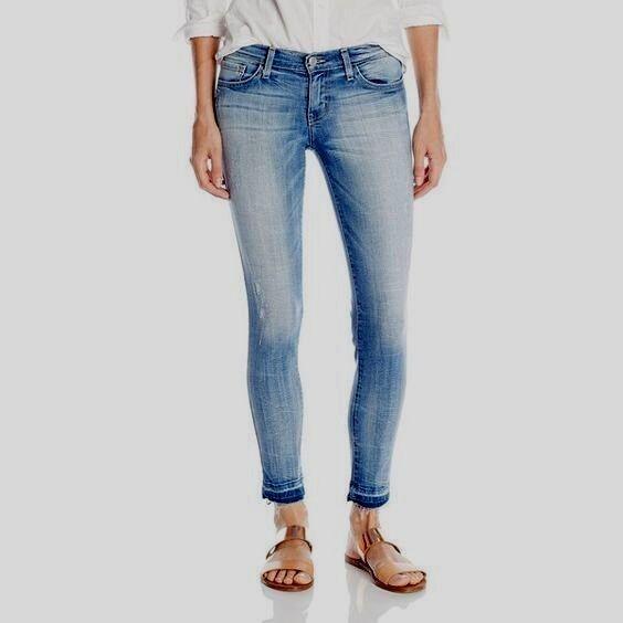 en volant Monkey Jeans L8356 Cropped let it out Ourlet Skinny Taille 28 in (environ 71.12 cm) Nouveau Neuf avec étiquettes