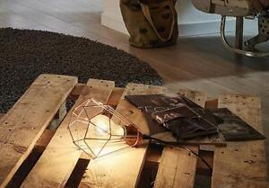 Lampada In Rame Design : Lampada da tavolo abatjour gabbia metallo rame design vintage eglo