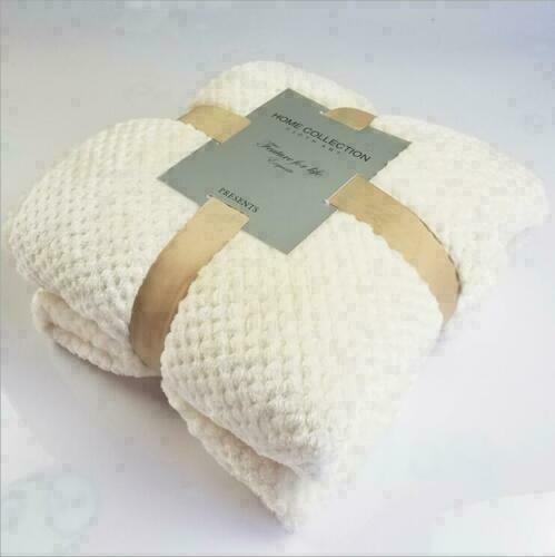 Soft Fleece Chenille Throws Luxury Waffle Honeycomb Mink Throw Blanket King Size