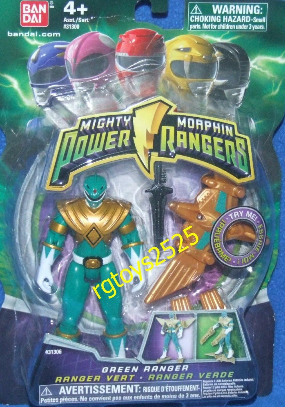 Mighty Morphin Power Rangers Green w Light Up Dino Flyer 2010 New Factory Sealed