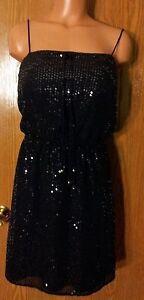Victoria-039-s-Secret-Ludi-Sexy-Dressy-Black-Sequin-Summer-Beach-Dress-Small-NWOT