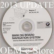 1997 to 2002 BMW 7 5 3 Series M3 M5 X5 Navigation CD Map #7 Cover WV VA NC SC