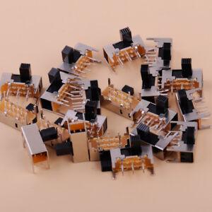 20Pcs-6mm-0-5A-50VAC-High-Side-Knob-6-Pin-2-Position-DPDT-Slide-Switch-SK22H03