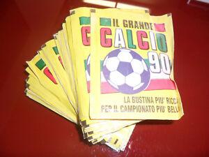 Lotto-31-Bustine-Calciatori-Vallardi-034-Il-Grande-Calcio-90-034-Omaggio-Sigillata
