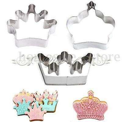 Stainless Cookie Cutter Steel Crown Tower Biscuit Cake Fondant Mold Metal Baking
