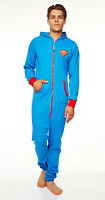 Superman Jumpsuit With Hood Men's One Piece Jumpsuit Suit
