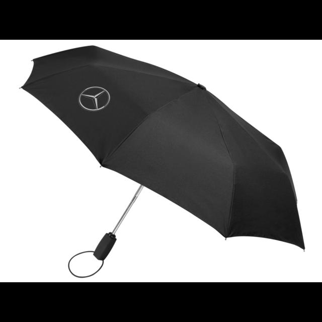 Mercedes Benz Original Pocket Umbrella Automatic Black New Sealed