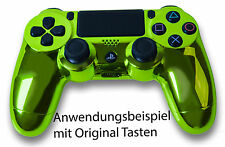 Neu Playstation PS4 Controller Case Hülle Gehäuse Chrome Modding Cover Grün