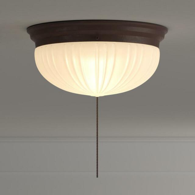 Westinghouse 2 Light Ceiling Fixture Sienna Interior Flush Mount With Pull Chain
