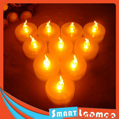 72 X PCS LED TEA Light Flameless Tealight Wedding Candle Flikering Battery