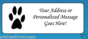 Image Is Loading 60 Personalized Paw Print Return Address Labels
