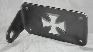 Motorcycle Side Axle Mount Maltese License Plate Holder