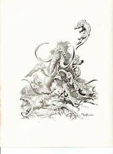 "1975 full Color Plate /"" The Mammoth/"" by Frank Frazetta Fantastic GGA"